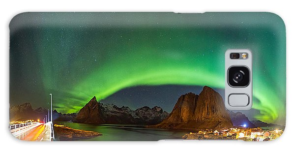 Green Curtains Galaxy Case by Alex Conu