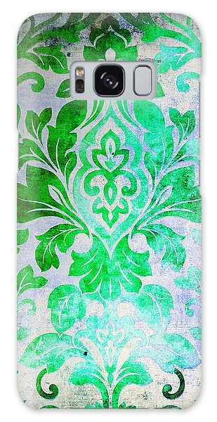 Green Damask Pattern Galaxy Case