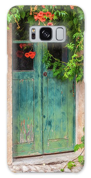 Green Door With Vine Galaxy Case