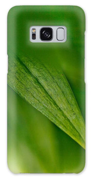 New Leaf Galaxy Case - Green Edges by Az Jackson