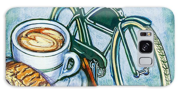 Green Electra Delivery Bicycle Coffee And Biscotti Galaxy Case