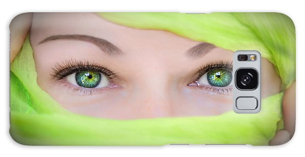 Green-eyed Girl Galaxy Case