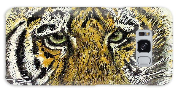 Green Eyed Tiger Galaxy Case by Laurie Rohner