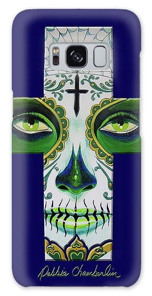 Green Eyes Blue Galaxy Case