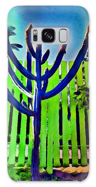 Green Fence Galaxy Case