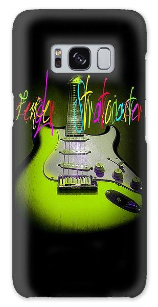 Green Stratocaster Guitar Galaxy Case
