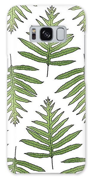 Green Fern Array Galaxy Case