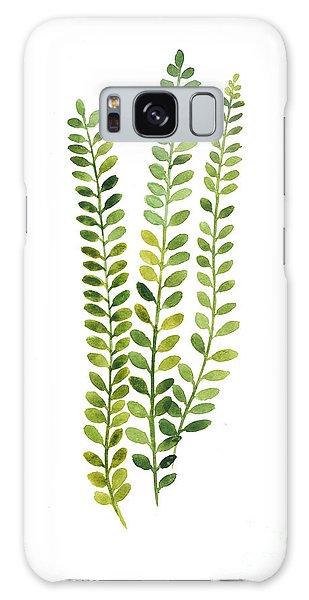Garden Galaxy S8 Case - Green Fern Watercolor Minimalist Painting by Joanna Szmerdt