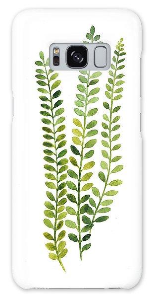 Garden Galaxy Case - Green Fern Watercolor Minimalist Painting by Joanna Szmerdt