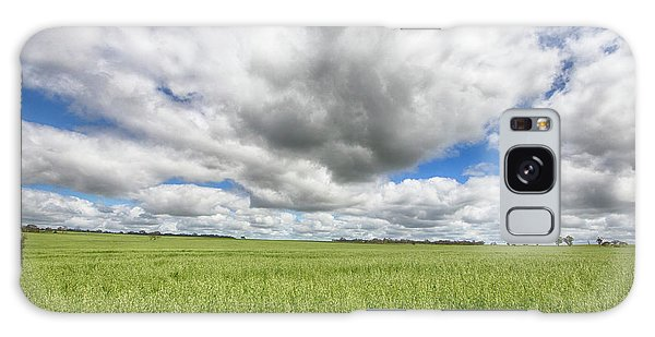 Green Fields 2 Galaxy Case by Douglas Barnard