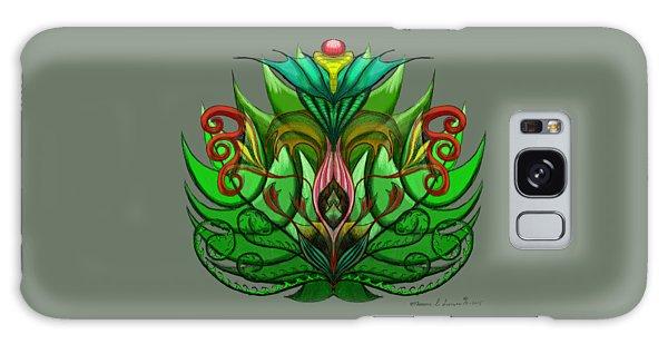 Green Flower Galaxy Case