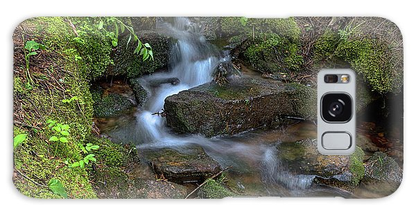 Galaxy Case featuring the photograph Green Flowing Stream by James BO Insogna