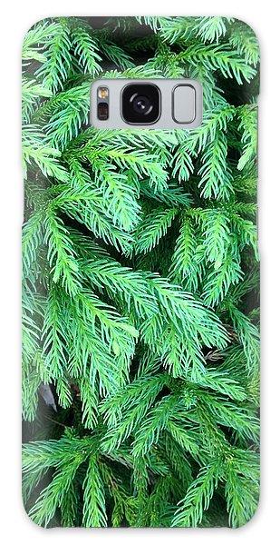 Green Foliage Galaxy Case