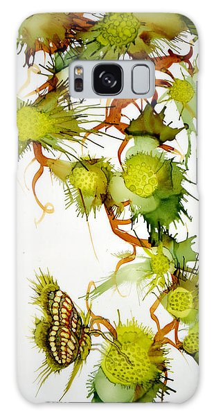 Green Fruit And Butterfly Galaxy Case