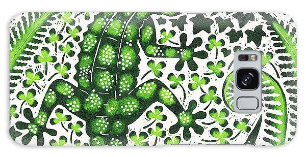 Wild Animals Galaxy Case - Green Gecko by Nat Morley