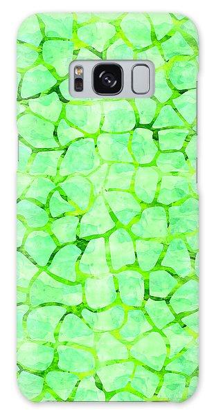Green Giraffe Print Galaxy Case