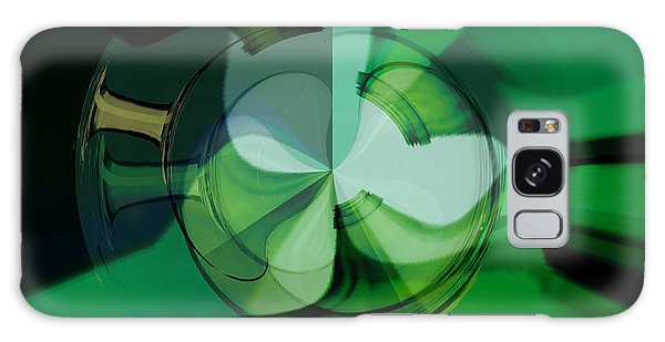 Galaxy Case - Green Glass Wheels by Digital Painting