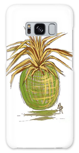 Green Gold Pineapple Painting Illustration Aroon Melane 2015 Collection By Madart Galaxy Case by Megan Duncanson