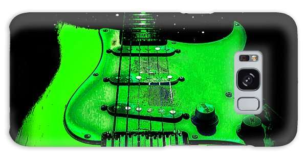 Galaxy Case featuring the digital art Green Guitar Full Time Occupation by Guitar Wacky