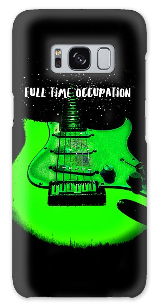 Green Guitar Full Time Occupation Galaxy Case