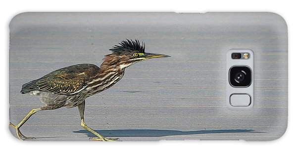 Green Heron On A Mission Galaxy Case