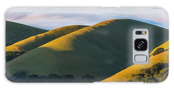Green Hills And Low Clouds Galaxy Case