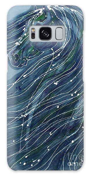 Green Horse With Flying Mane Galaxy Case