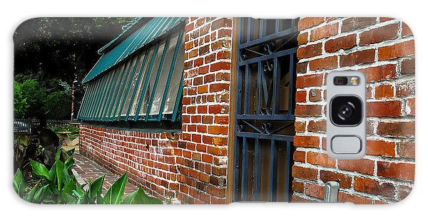 Green House Brick Wall Galaxy Case