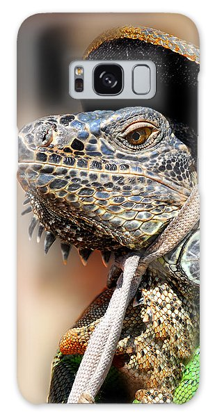 Green Iguana Galaxy Case
