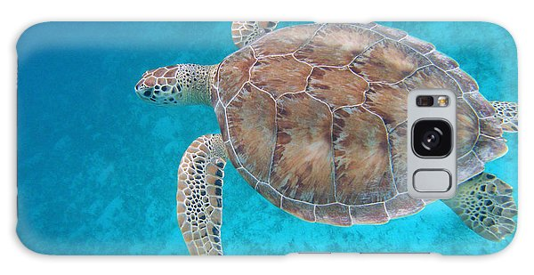 Turtle Galaxy Case - Green In Blue by Kimberly Mohlenhoff