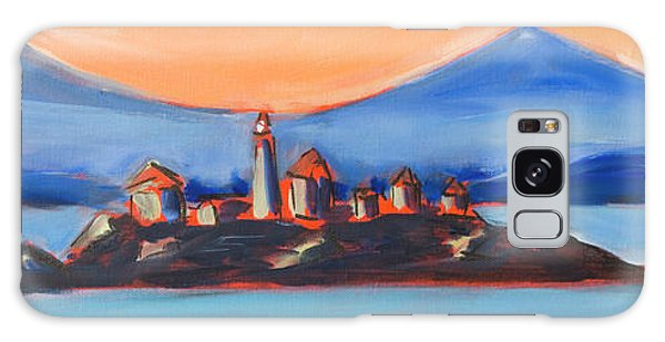 Galaxy Case featuring the painting Green Island Lighthouse by Yulia Kazansky