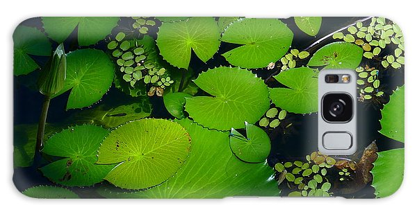 Green Islands Galaxy Case by Evelyn Tambour