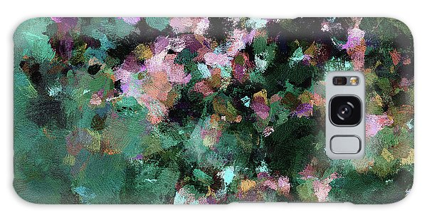 Green Landscape Painting In Minimalist And Abstract Style Galaxy Case by Ayse Deniz