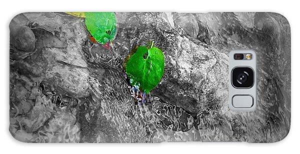 Green Leaf Galaxy Case