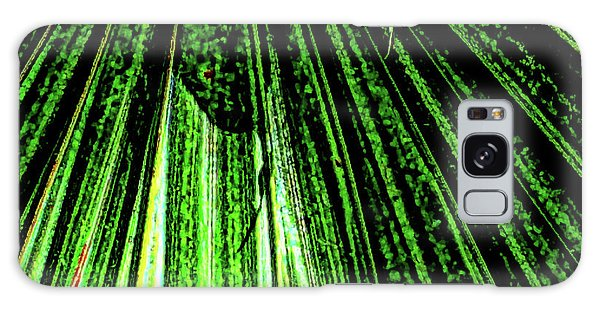 Green Leaf Forest Photo Galaxy Case