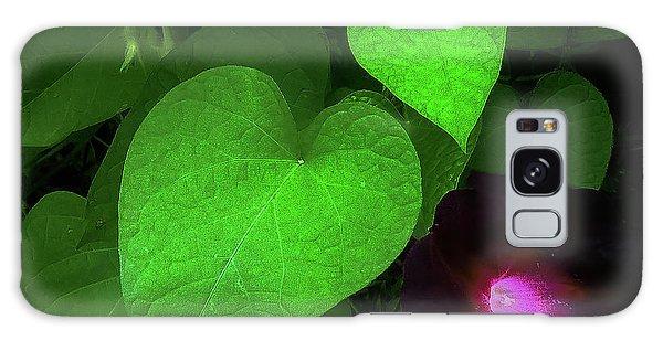 Green Leaf Violet Glow Galaxy Case
