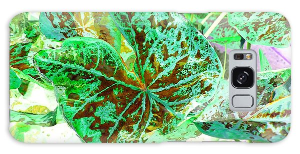 Galaxy Case featuring the photograph Green Leafmania 1 by Marianne Dow