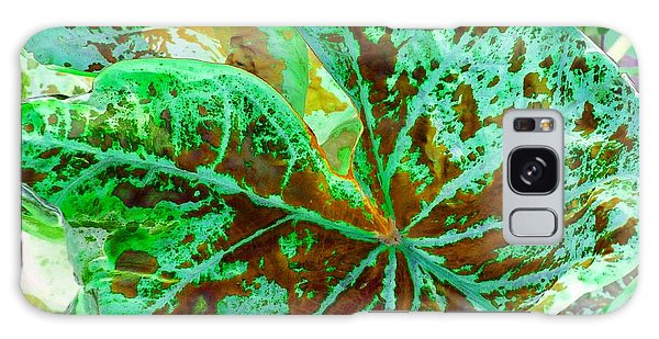 Galaxy Case featuring the photograph Green Leafmania 2 by Marianne Dow