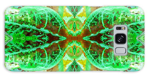 Galaxy Case featuring the photograph Green Leafmania 3 by Marianne Dow