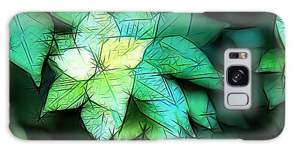 Green Leaves Galaxy Case