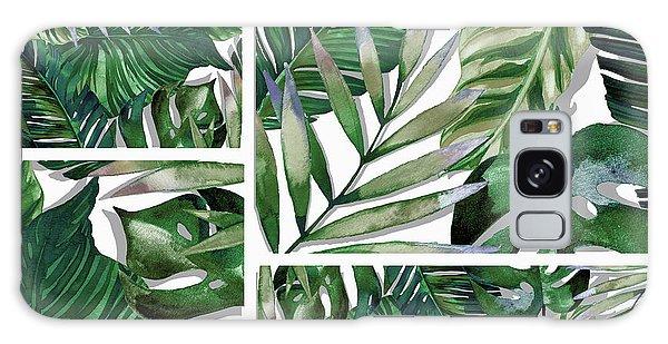 Green Leaf Galaxy Case - Green Life by Mark Ashkenazi