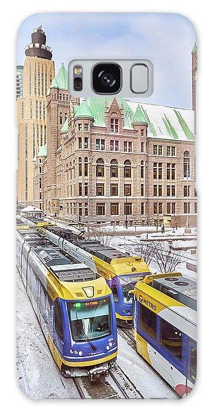Green Line Train Leaves Minneapolis City Hall Galaxy Case