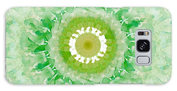 Fractal Design Galaxy Case - Green Mandala- Abstract Art By Linda Woods by Linda Woods