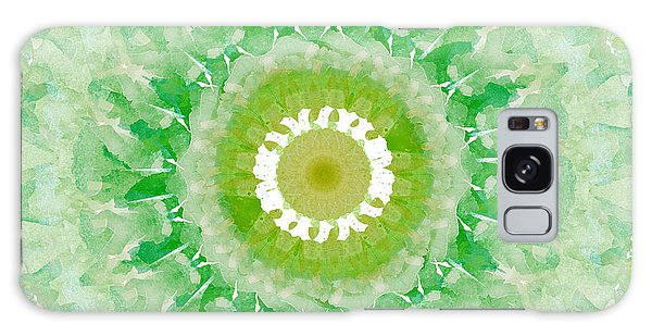 Fractal Galaxy Case - Green Mandala- Abstract Art By Linda Woods by Linda Woods