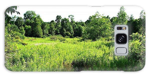 Green Meadow Galaxy Case