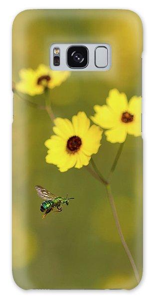 Green Metallic Bee Galaxy Case