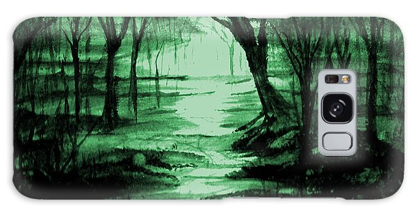 Green Mist Galaxy Case