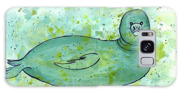 Green Monk Seal Galaxy Case