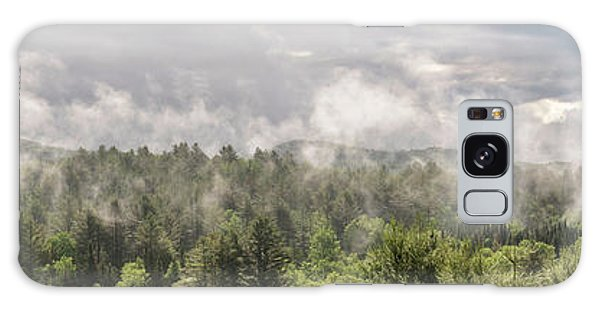Green Mountains Fog Panoramic Galaxy Case