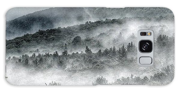 Green Mountains With Fog Galaxy Case by Penni D'Aulerio